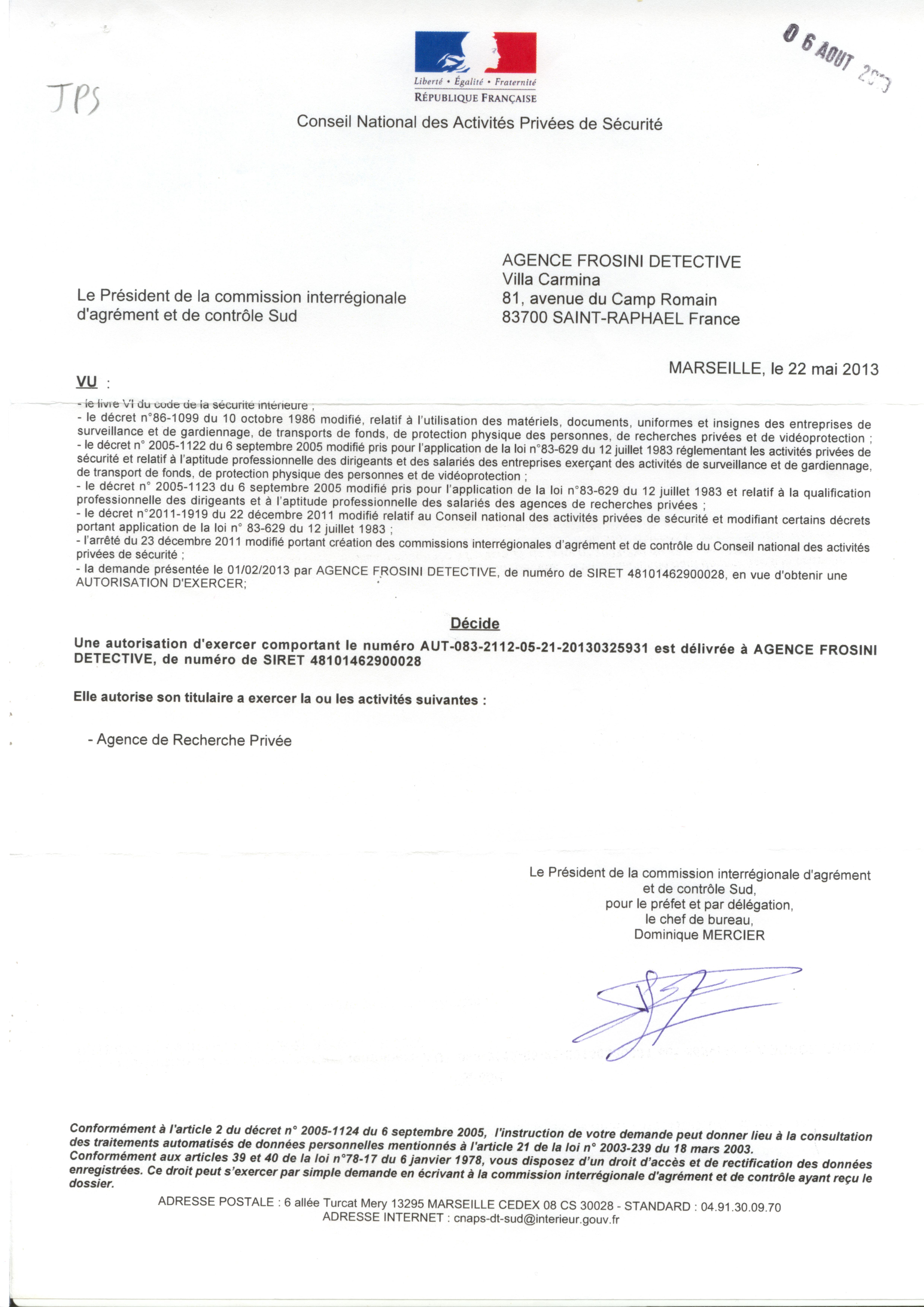 Autorisation Agce St-Raphaël (light)