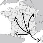 carte régions et département rayonnement 2